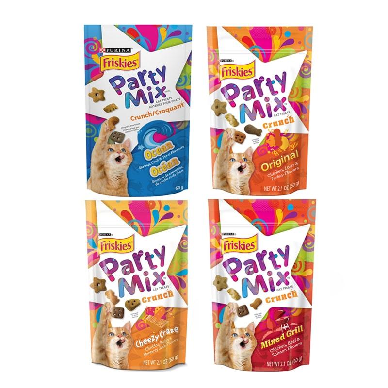Bánh thưởng cho mèo Friskies Party Mix 60g