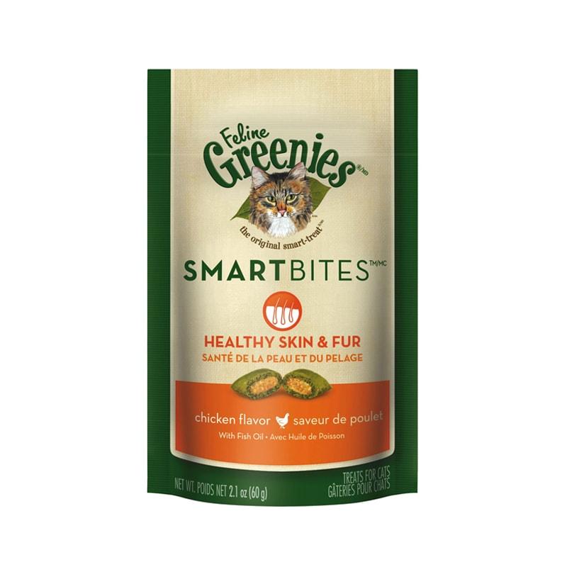 Bánh thưởng mèo dưỡng da và lông Greenies
