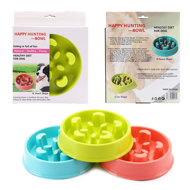 Bát ăn chậm, chống sặc đế tròn cho chó Happy Hunting Bowl 009 (BT)