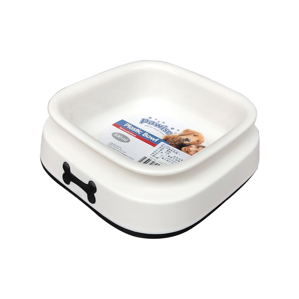 Bát ăn cho chó mèo Pawise Plastic Bowl (BT)
