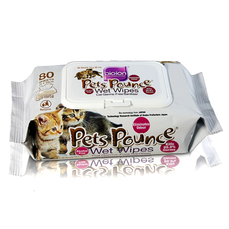 Khăn ướt khử mùi Pets Pounce Wet Wipers 80pcs