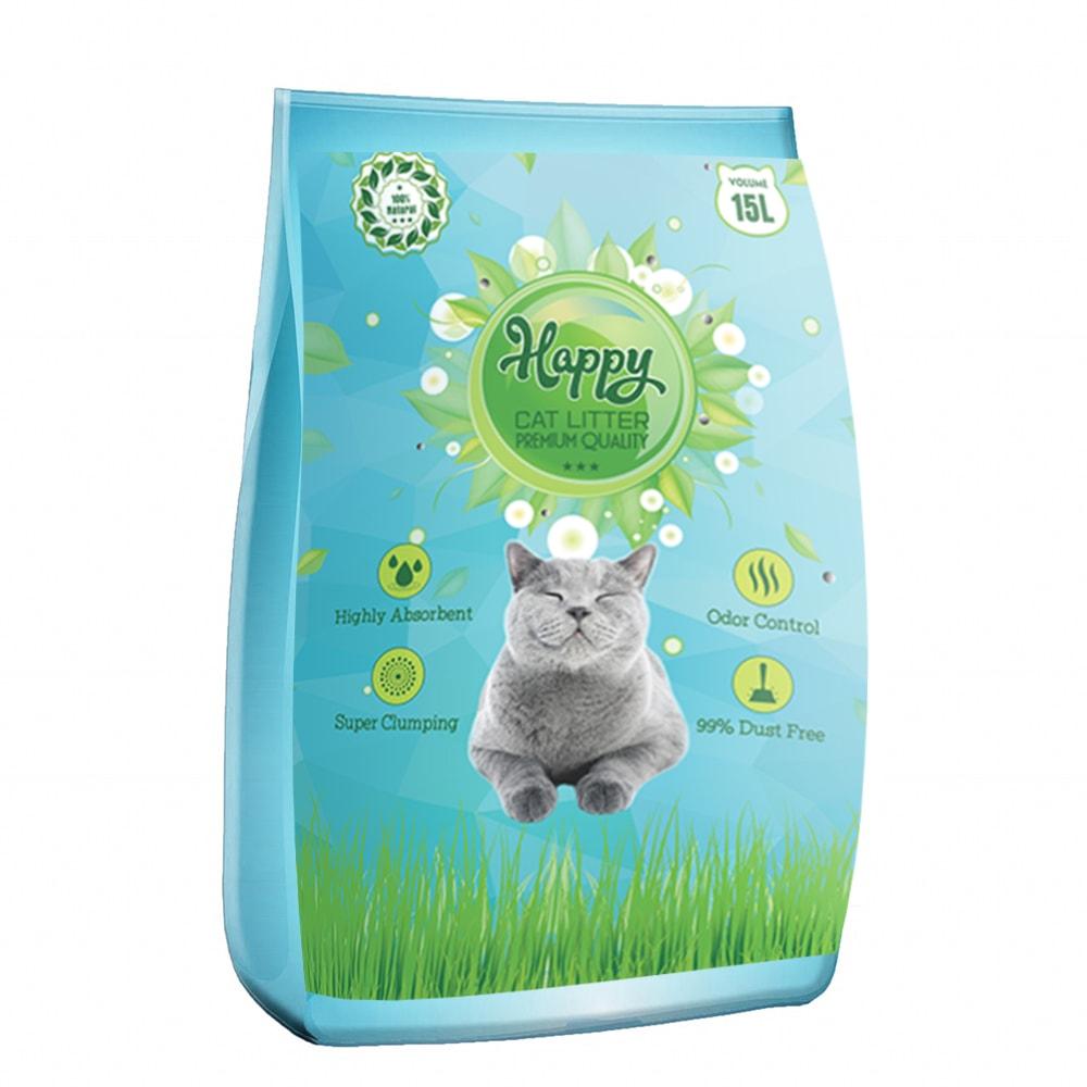 Cát vệ sinh Happy Cat hương chanh 15L (KV)