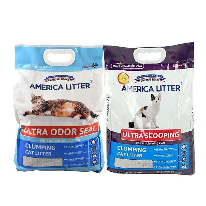 Cát vệ sinh cho mèo America Litter 10L