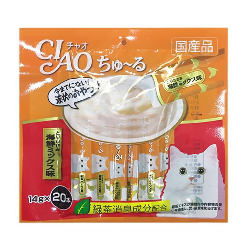 Súp thưởng cho mèo Inaba Ciao Churu vị Gà 20 thanh-SC 128 (Cam)