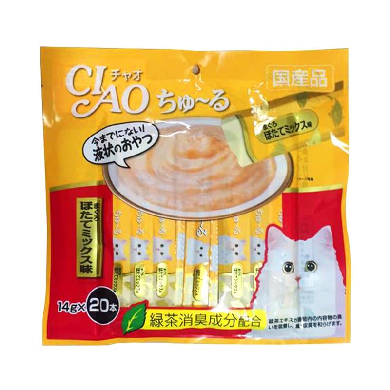Súp thưởng cho mèo Inaba Ciao Churu vị Cá ngừ 20 thanh - SC-129C (vàng)