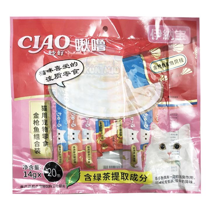 Súp thưởng cho mèo Inaba Ciao Churu 20 thanh mix