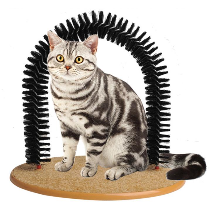 Đồ chơi cổng vòm massage, lấy lông cho mèo