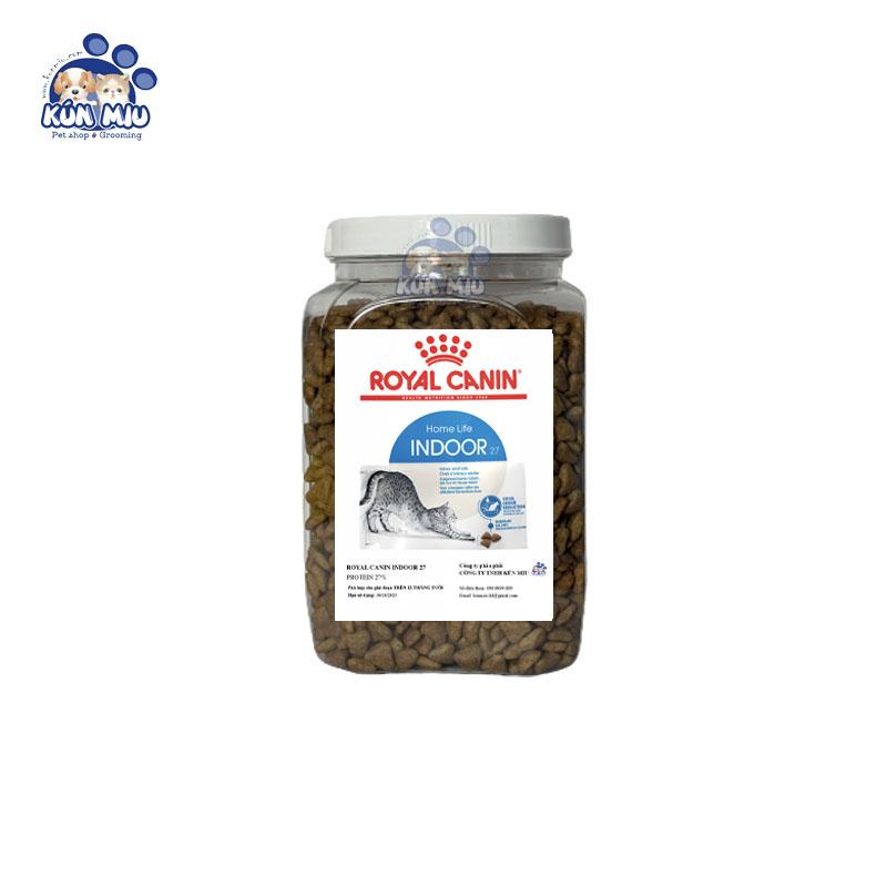 Thức ăn cho mèo Royal Canin Indoor 27 - Hộp 1kg