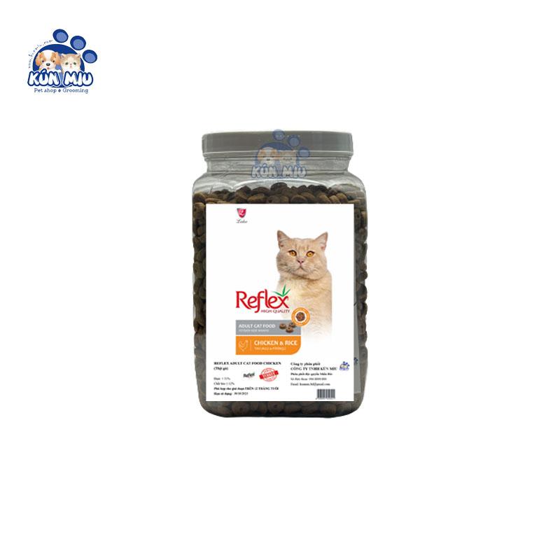 Thức ăn cho mèo Reflex Adult vị thịt gà - Hộp 1kg