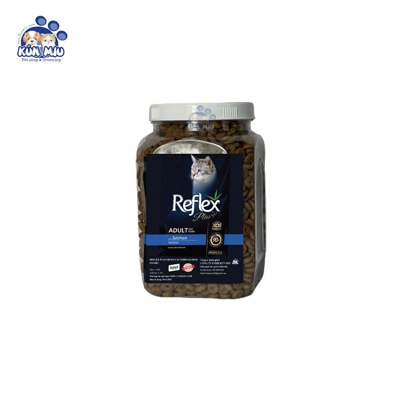 Thức ăn cho mèo Reflex Plus Adult vị Cá Hồi - Hộp 0.5kg