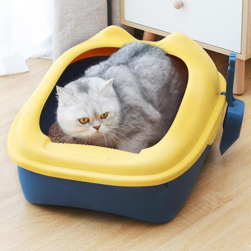 Khay đựng cát vệ sinh hình tai mèo sz M (51*41*26)