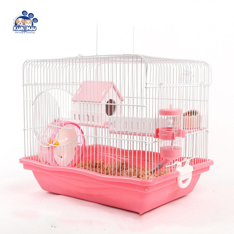 Lồng chuồng 2 tầng cho hamster kèm phụ kiện cơ bản
