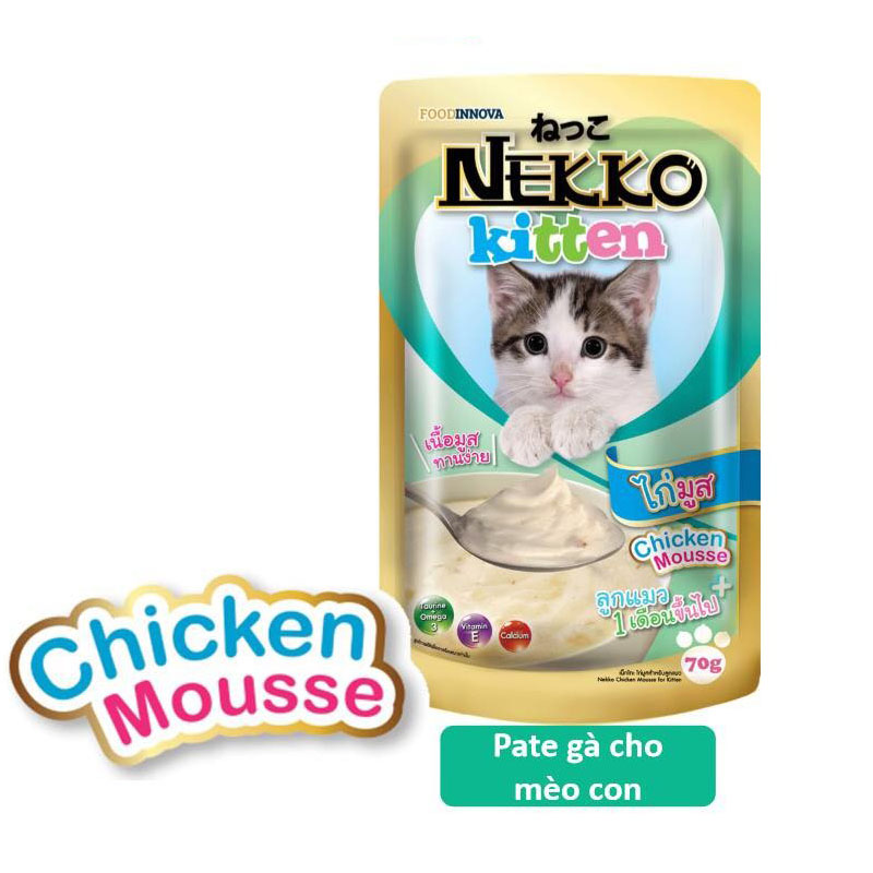 Pate cho mèo con Nekko Kitten 70g