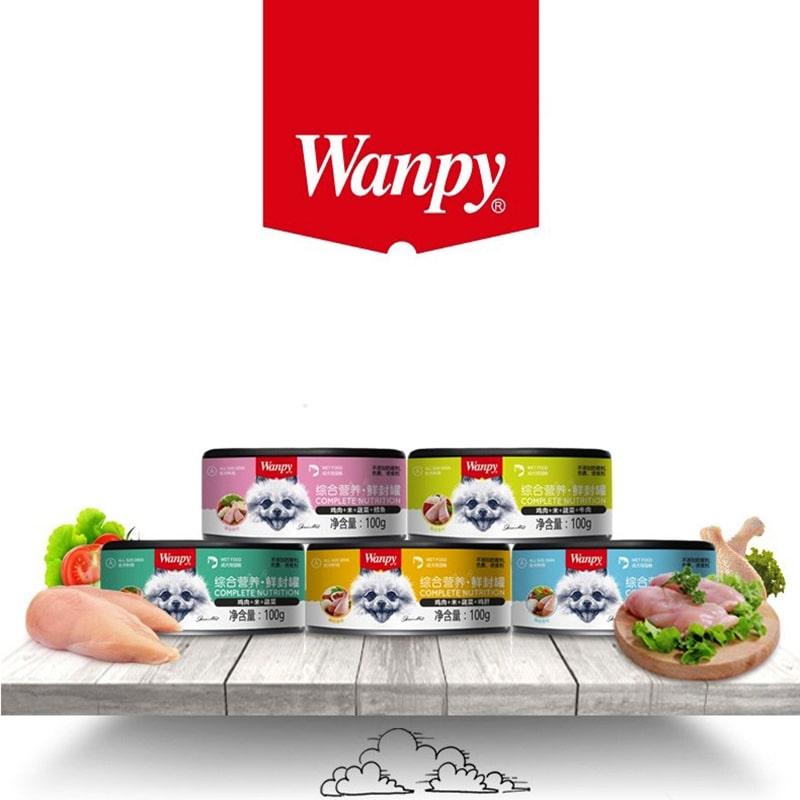 Pate cho chó Wanpy 100g các vị