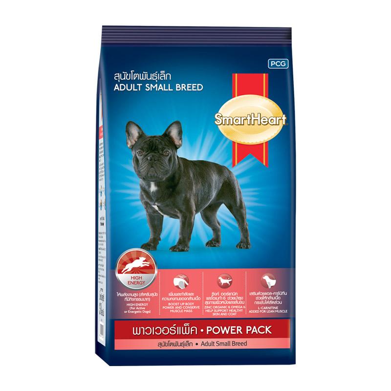 Thức ăn cho dòng chó nhỏ Smartheart Power Pack 1Kg