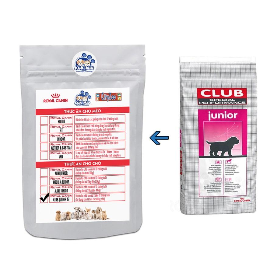 Thức ăn cho chó Royal Canin Club Junior