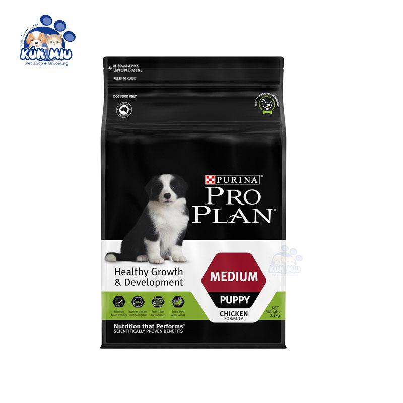 Thức ăn cho chó Purina ProPlan Medium Puppy 2.5kg