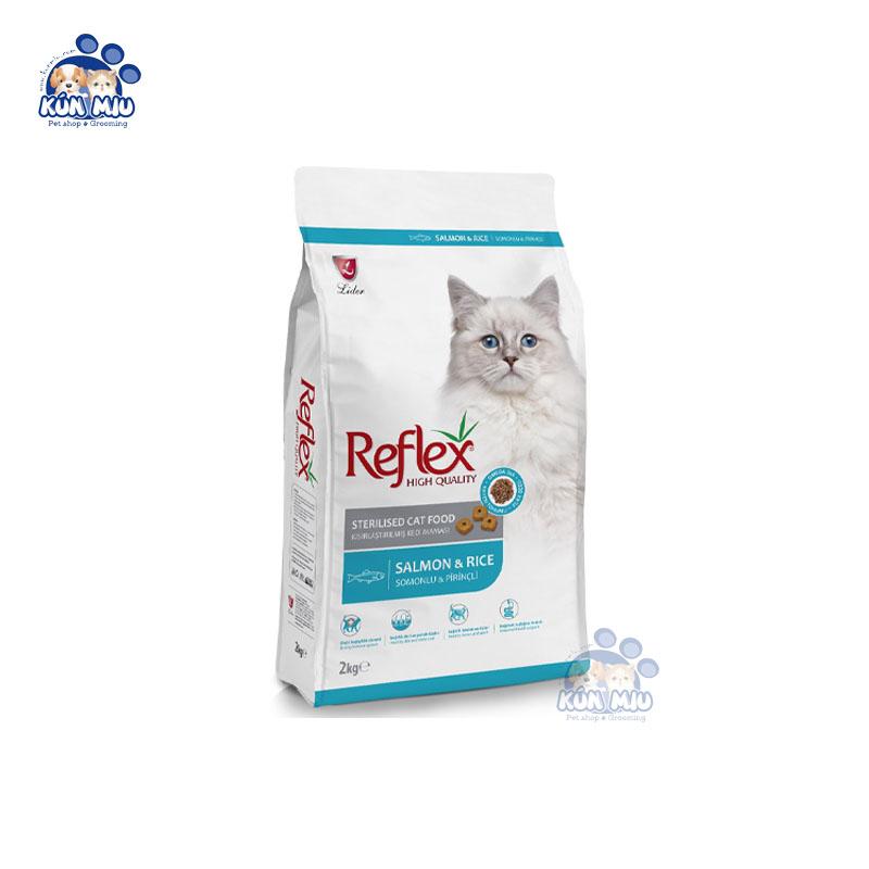 Thức ăn cho mèo trưởng thành REFLEX STERILISED CAT FOOD SALMON & RICE