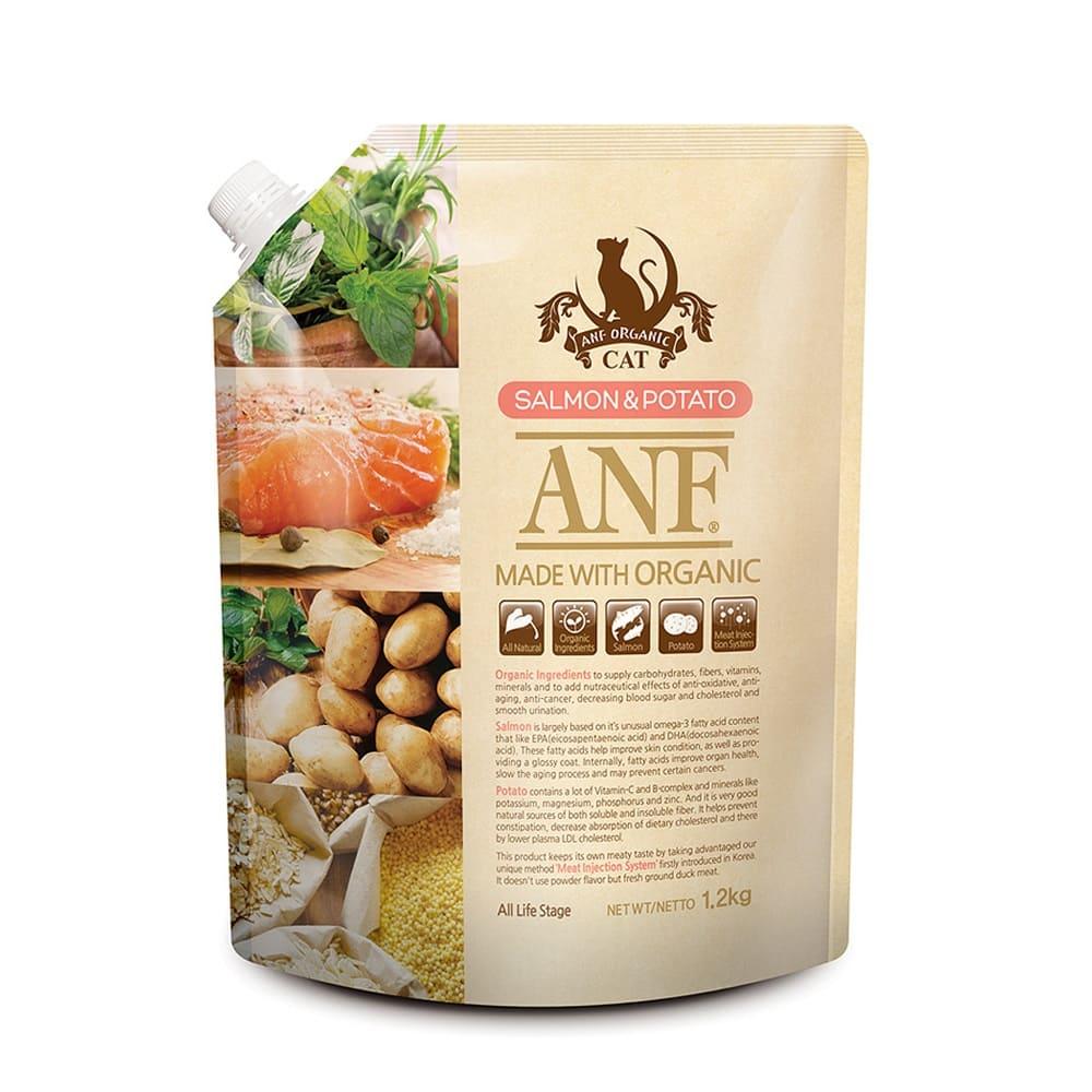 Thức ăn cho mèo ANF Organic Salmon & Potato 1,2kg