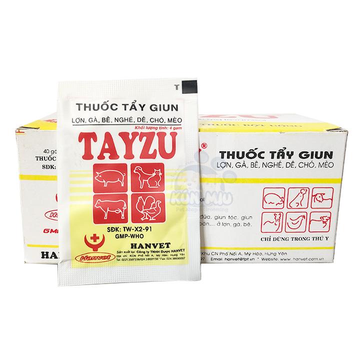 Tẩy giun cho chó mèo dạng bột Tayzu đỏ 4g