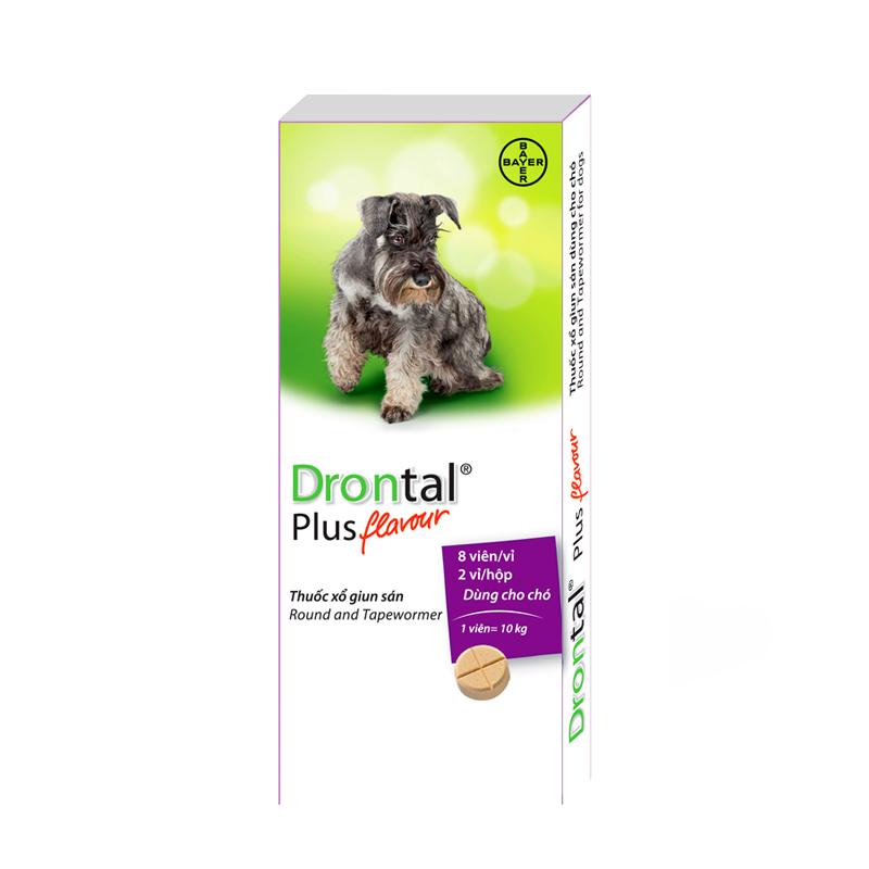 Thuốc tẩy giun cho chó Drontal Plus