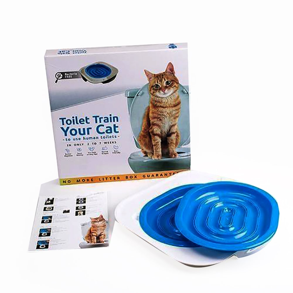 Bộ huấn luyện mèo đi vệ sinh trong bồn toilet