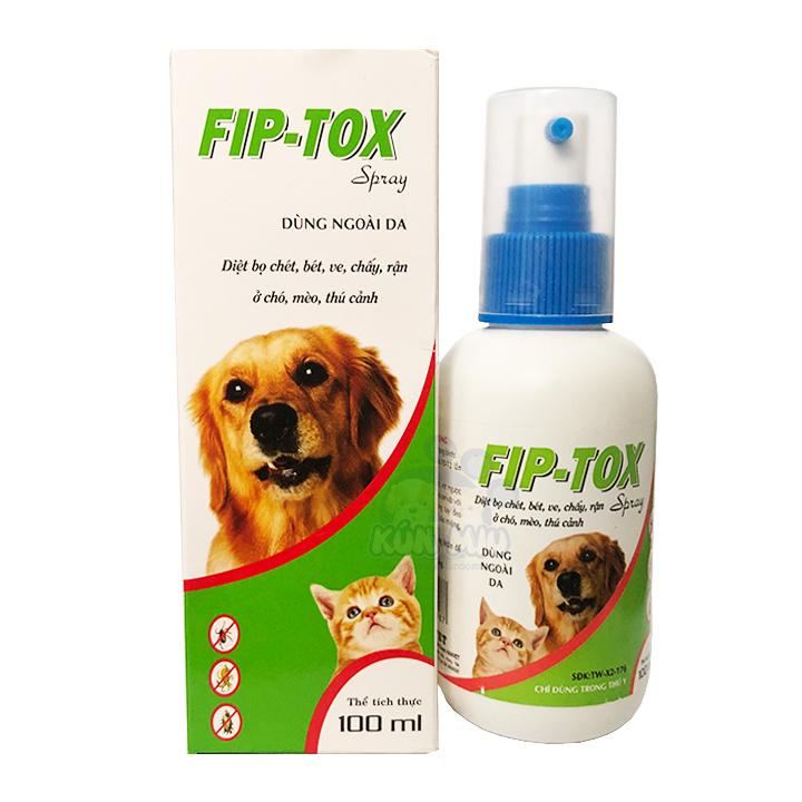Xịt ve rận cho chó mèo Fip-tox 100ml