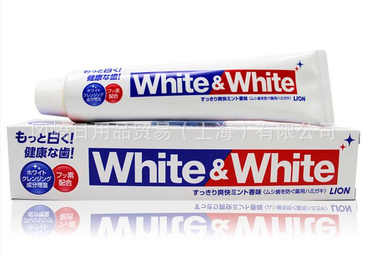 Image result for kem đánh răng white and white lion