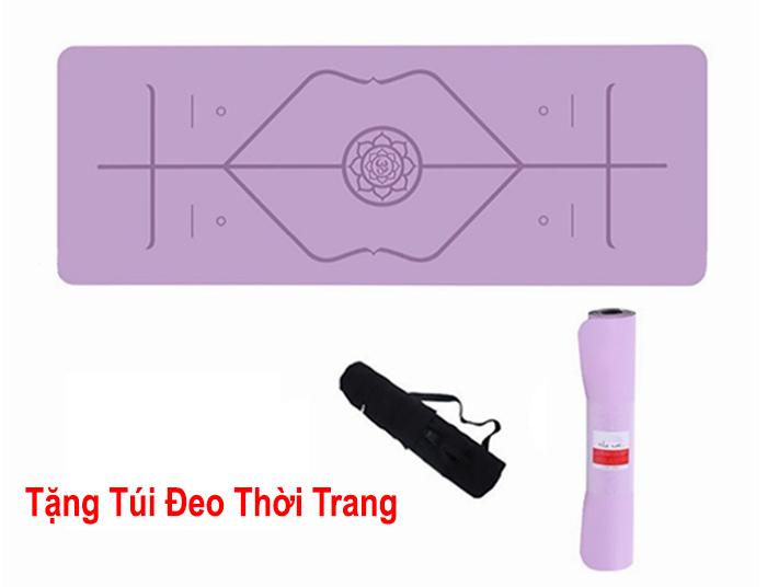 thảm yoga Pido định tuyến màu tím