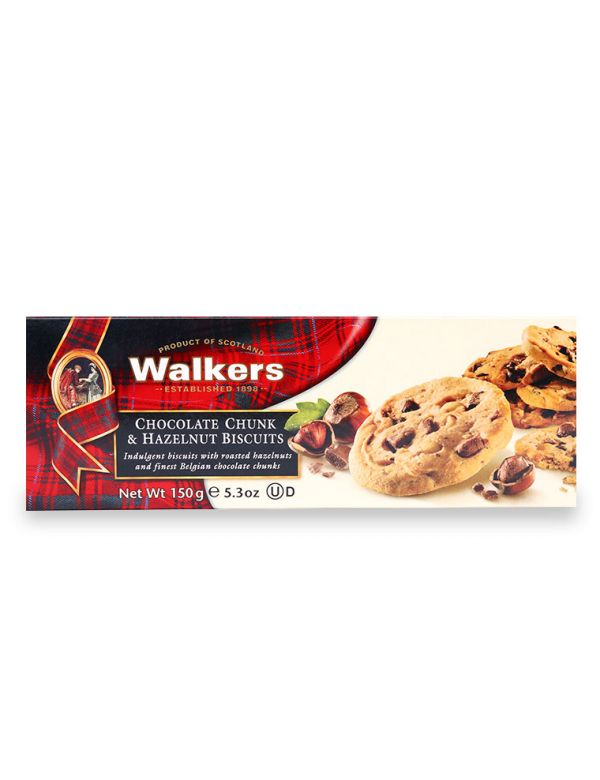 Bánh Quy Socola Hạt Dẻ Walkers Chocolate Chunk & Hazelnut Biscuits 150g