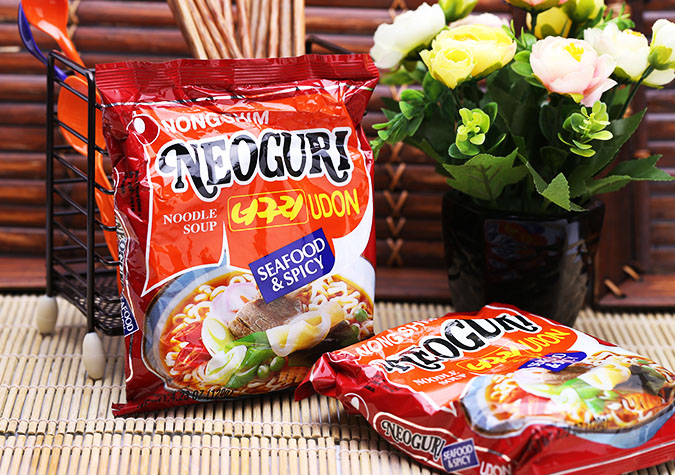 Combo 5 Mì Nong Shim Neoguri Udon Seafood& Spicy 120g