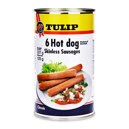 Xúc xích Heo Tulip Hot Dog Skinless Sausages 125g (Hộp)