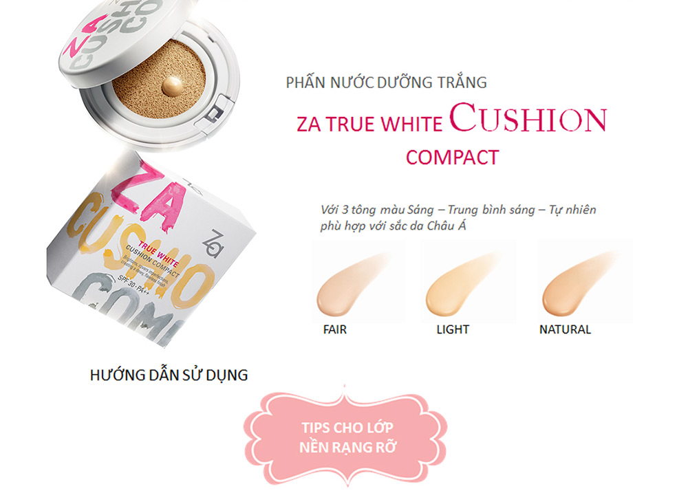 Cushion ZA True White #Light 12g