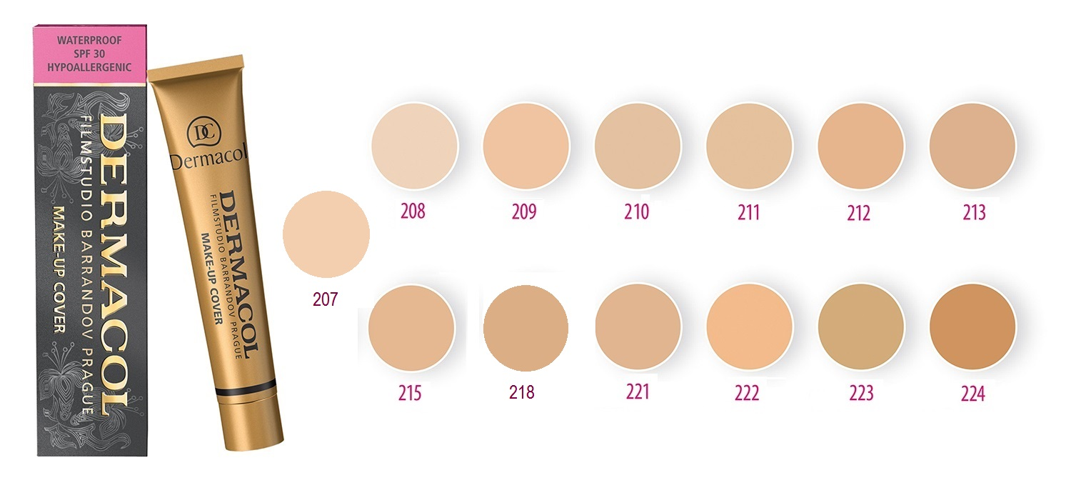 Kem nền Dermacol Make-up Cover 30g (No.213)