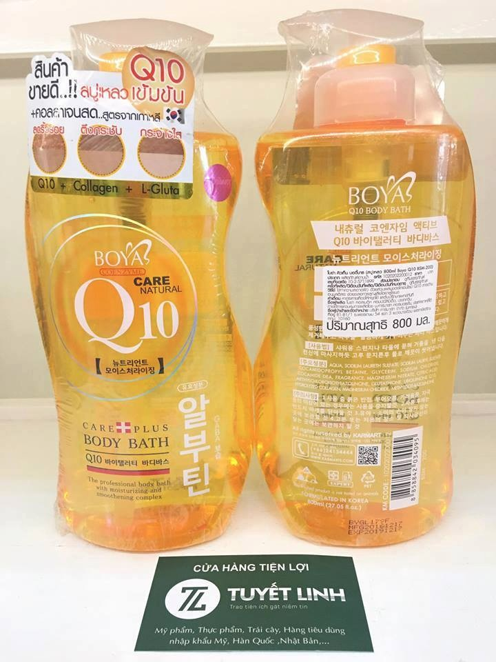 Sữa Tắm Boya Coenzyme Q10 Care Natural 800ml