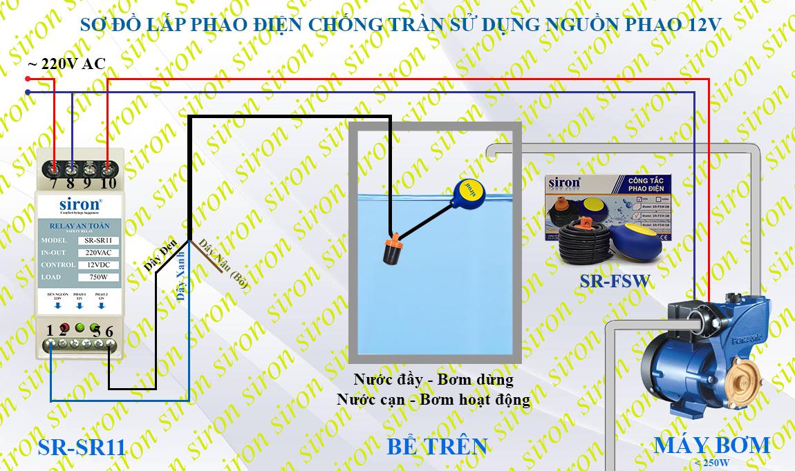Relay role ro le an toàn cho phao điện chính hàng GLelectric SRF111m srf111x srf 111m 111x