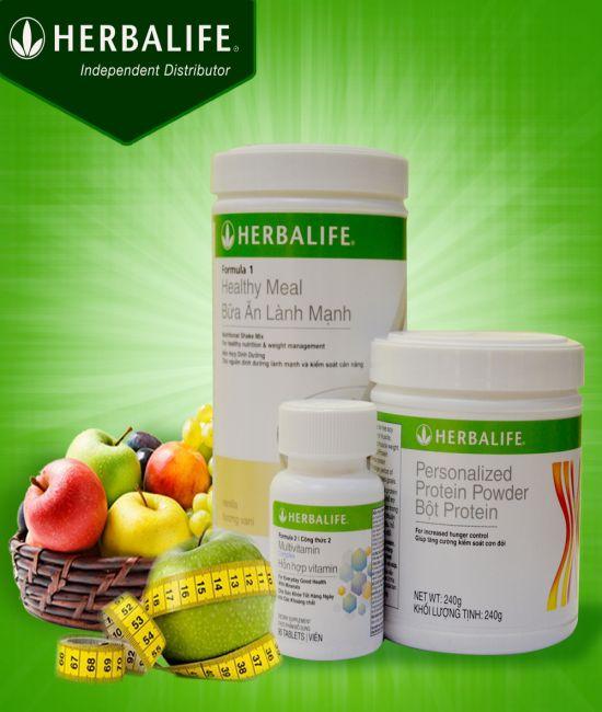 Thực phẩm bổ sung : Bộ 3 Herbalife cải thiện vóc dáng cơ bản H019