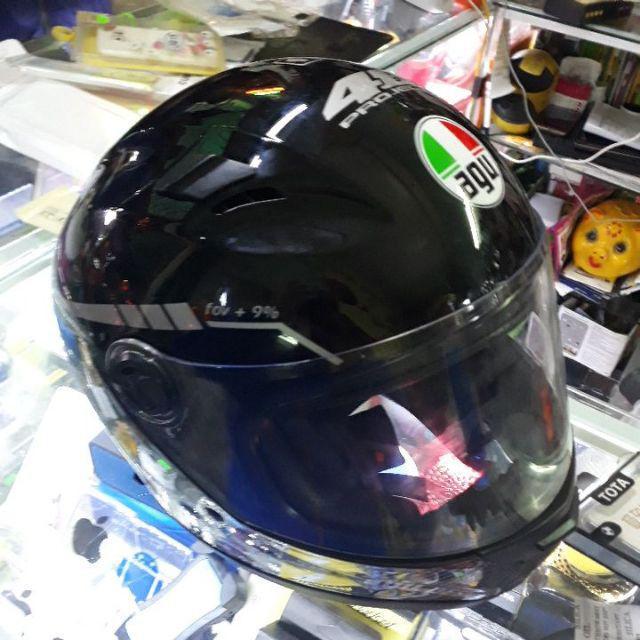 Mũ Agu fullface đen hàng chính hãng