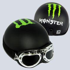 Mũ Bảo Hiểm 1/2 Bopa Tem Phượt - Monster