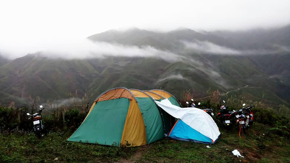 Lều trại dã ngoại cỡ lớn cho 18 người 2 lớp chống thấm tốt chống côn trùng