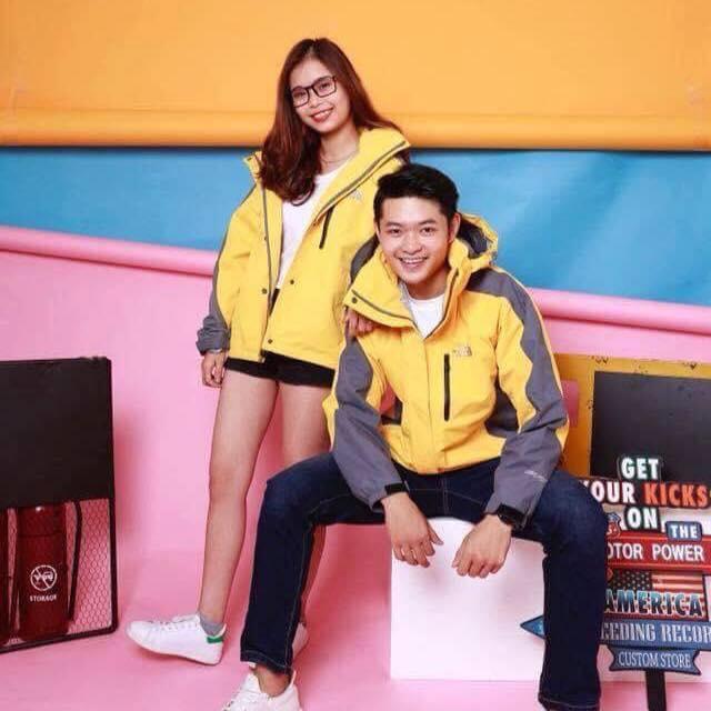 Bán 1 đôi (2 áo) Áo khoác đôi 2 lớp pha màu loại giầy dành cho các đôi yêu nhau ( FA đừng có đọc nhé !!)