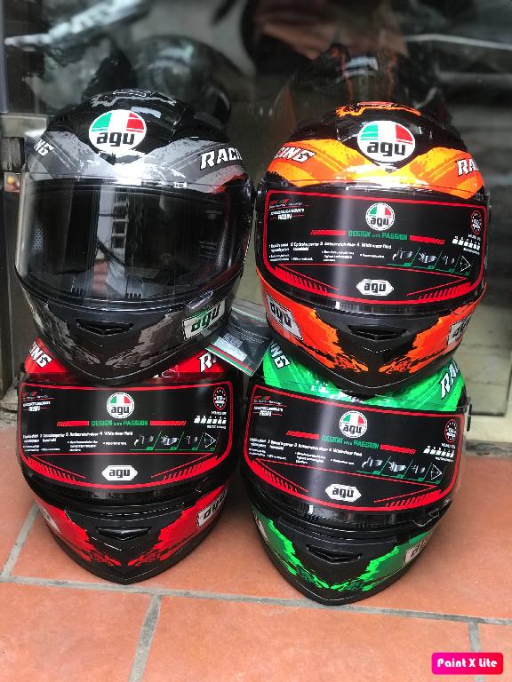 ( freeship bảo hành 24 tháng ) mũ nón AGU tem Racing energy xanh lá cây (hàng chính hãng)