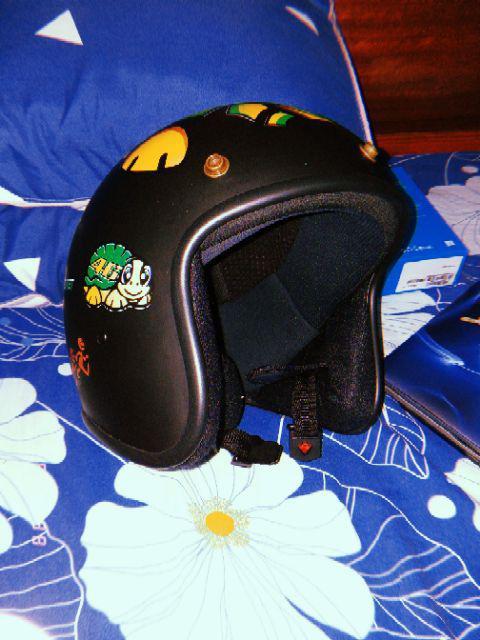 Mũ Bảo Hiểm 3/4 Bopa Tem Phượt Cao Cấp tem rùa