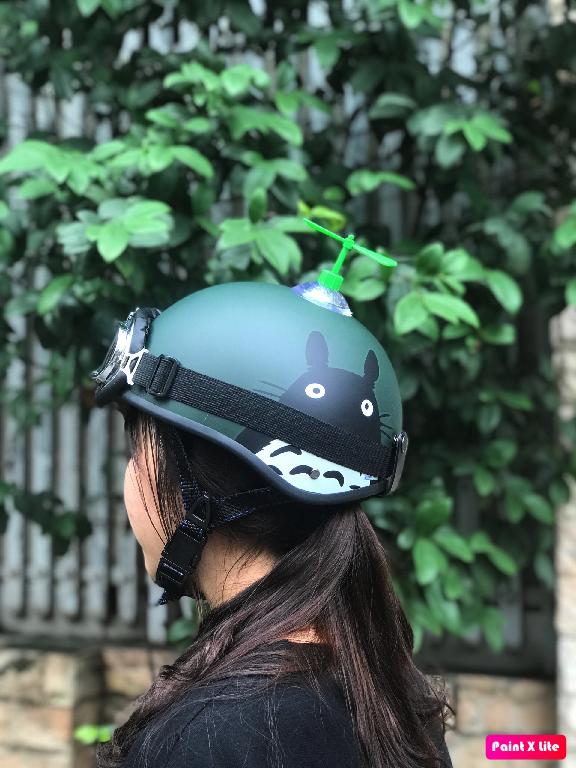 (HOT TREND) Mũ bảo hiểm 1/2 TOTORO XANH+KÍNH PHI CÔNG+CHONG CHÓNG