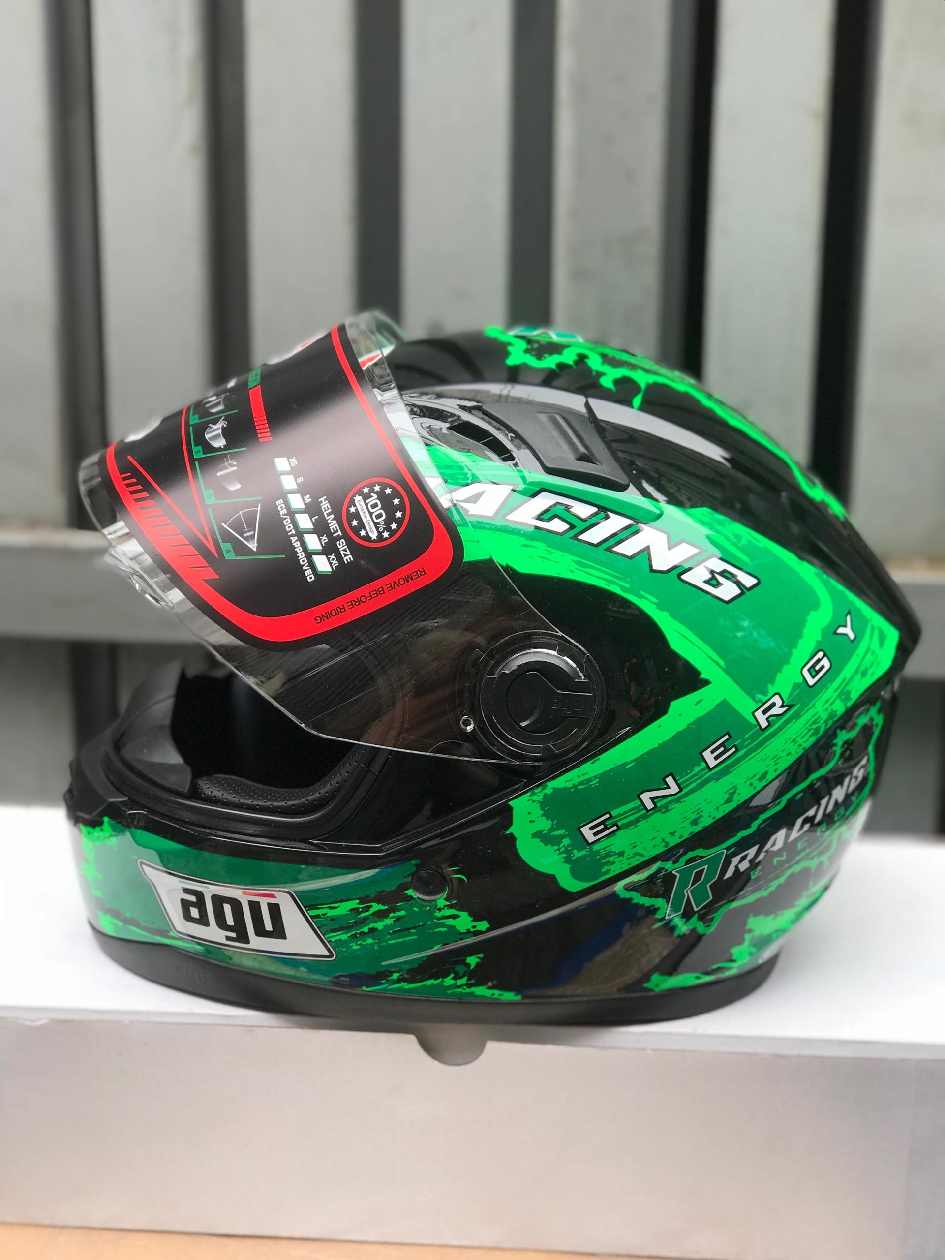 ( freeship bảo hành 24 tháng ) mũ nón AGU tem Racing energy đỏ (hàng chính hãng)