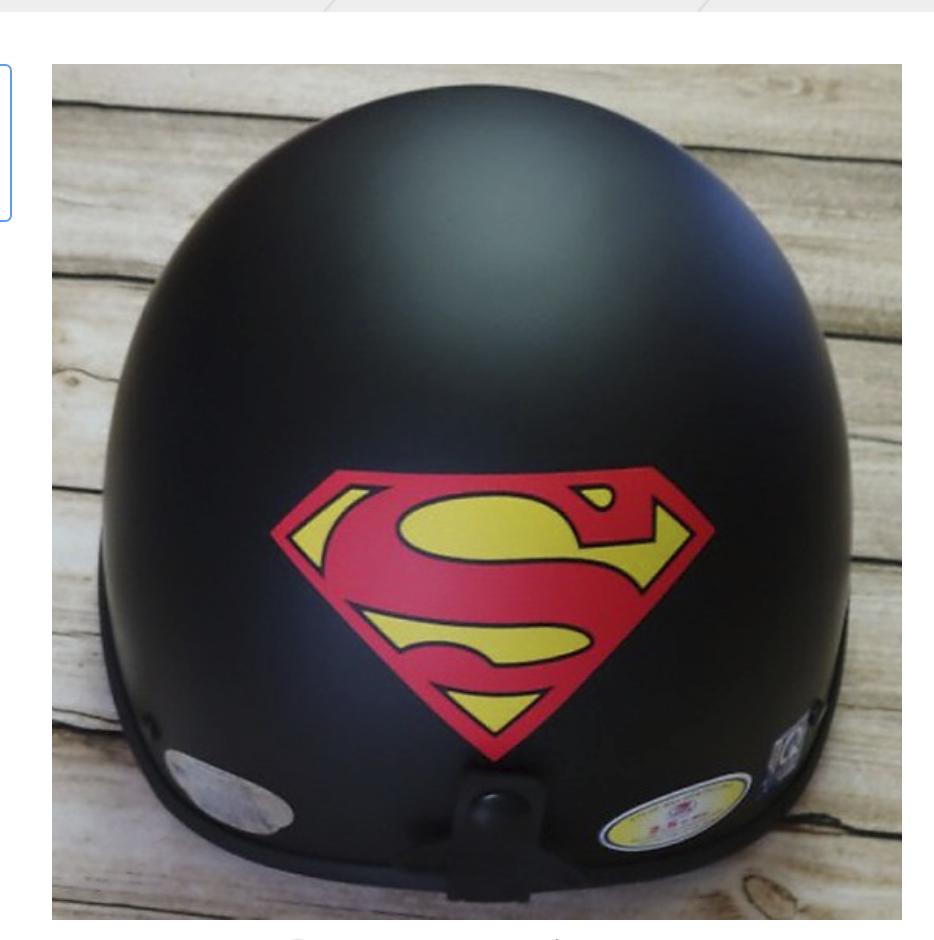 Mũ Bảo Hiểm 1/2 Bopa Tem Phượt - Super man
