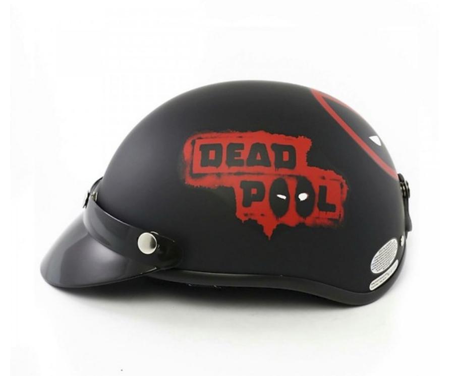 Mũ Bảo Hiểm 1/2 Bopa Tem Phượt - Deadpool
