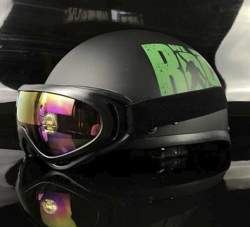 Mũ Bảo Hiểm 1/2 Bopa Rock Cam + Kính UV