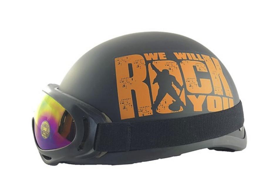 Mũ Bảo Hiểm 1/2 Bopa Rock Đỏ + Kính UV