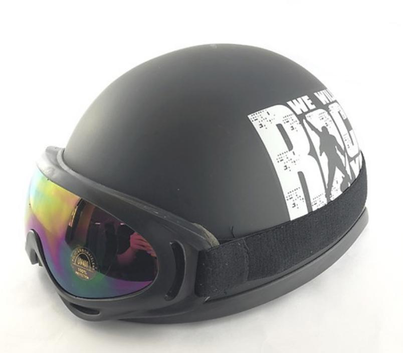 Mũ Bảo Hiểm 1/2 Bopa Rock Xanh lá + Kính UV